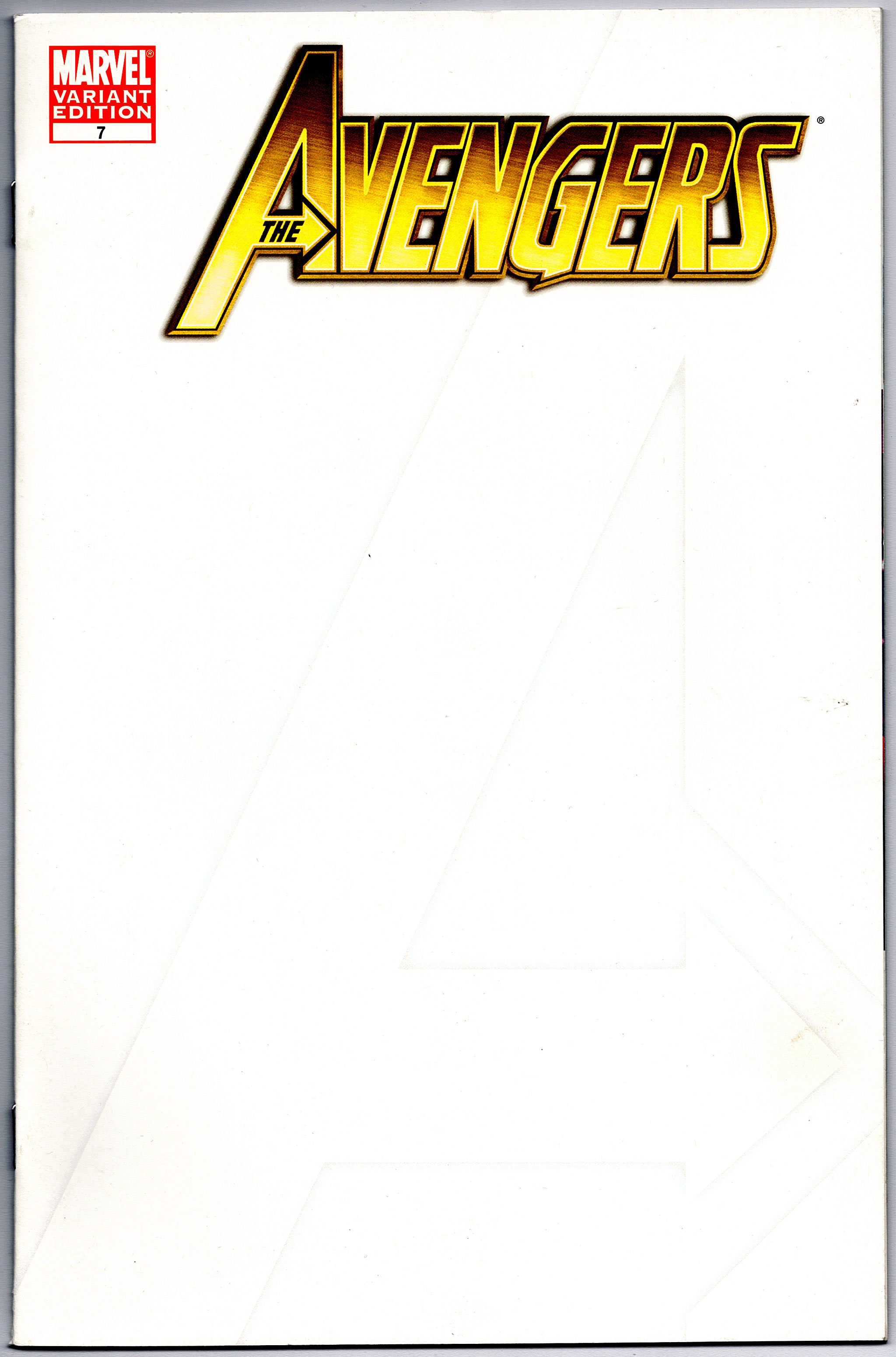 the avengers 7 blank sketch cover variant first print marvel comics nm ebay. Black Bedroom Furniture Sets. Home Design Ideas