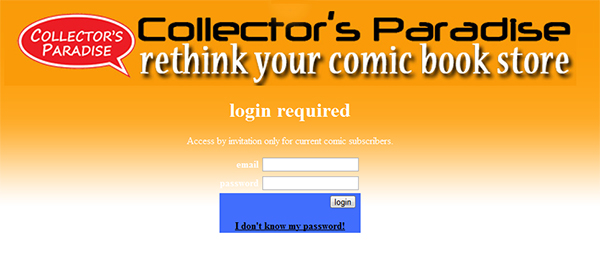 Collector's Paradise Subscription Service Tutorial